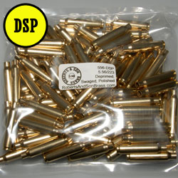 5.56/223 Brass Deprimed, Swaged, Polished (100 Sample Pack)