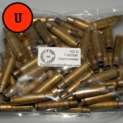 7.62/308 Brass Unprocessed (50 Sample Pack)
