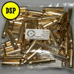 7.62/308 Brass Deprimed, Swaged, Polished (50 Sample Pack)